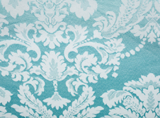 tablecloths hire  Damask Duck Egg Blue