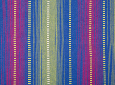 Tablecloths hire Indian Cotton - Blue Stripe