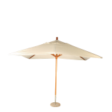 Unbleached Louisiana Parasol 300 X 300 cm + Granite Stand Ø 50 cm