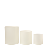 Cylindrical Frosted Risers, Set Of 3 Sizes