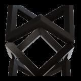 Wood riser Black