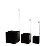 Set Of 3 Black Risers with Light