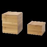 Bamboo Cube Riser 17 X 17 cm H 20 cm