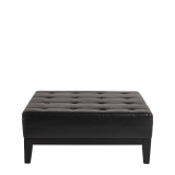 Button Ottoman in Black L 40