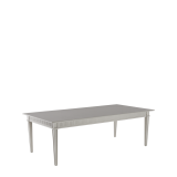 Sandstone Willow Dining Table in White Lacquered