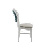 Chandelle Chair in White with Bespoke