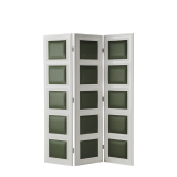CKC Screen in White with Hunter Green Panels