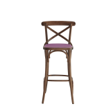 Coco Bar Stool in Natural with Icy Pink Seat Pad