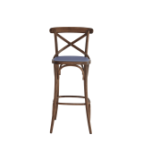 Coco Bar Stool in Natural with Lavender Seat Pad