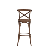 Coco Bar Stool in Natural with Cane Work Seat Pad