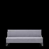 Sardinia Straight Smooth Back Sofa in Grey