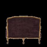 Paris Settee Sofa Amethyst in Gold upholstered in Purple Velvet