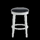 Beli Bar Stool White with Black Seat Pad