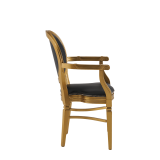 Chandelle Armchair in Gold with Black Seat Pad