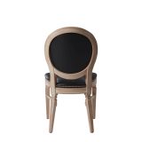 Chandelle Chair in Ivory with Black Seat Pad