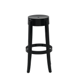 Charles Ghost Bar Stool in Black