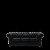 Chesterfield Sofa in Black 7ft