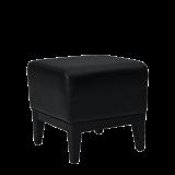 Classic Square Ottoman in Black