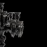 Crystal Drop Candelabra in Black
