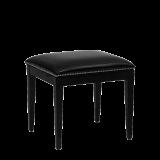 Divano Ottoman in Black with Black Seat Pad