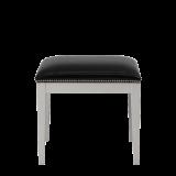 Divano Ottoman in White with Black Seat Pad