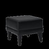 Infinito K Small Square Ottoman in Black