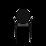 Louis Ghost Armchair in Black