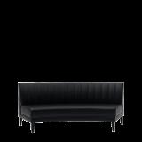 Infinito E Curved Sofa in Black