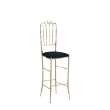 Napoleon Bar Stool in Gold with Black Seat Pad