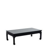 Shanghai Coffee Table in Black with Mirror Top