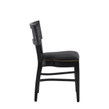 The Bogart Chair in Black with Black Seat Pad