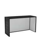 Unico DJ Booth with Black Frame and Black Upholstered Panels