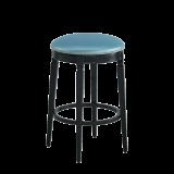 Beli Bar Stool Black with Blue Seat Pad