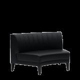 Infinito F Curved Sofa in Black
