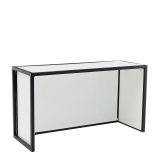 Unico Rectangular Bar with Black Frame and Coloured Panels