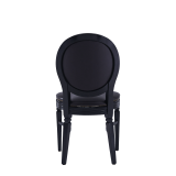 Chandelle Chair in Black with Brown Seat Pad