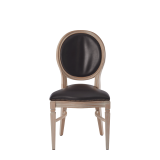 Chandelle Chair in Ivory with Brown Seat Pad