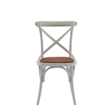 Coco Chair in White with Cane Work Seat Pad