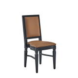 CKC Chair in Black with Caramel Seat Pad
