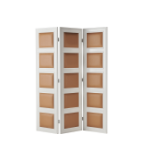 CKC Screen in White with Caramel Panels