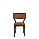 The Bogart Chair in Black with Caramel Seat Pad