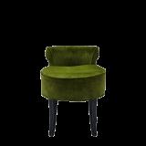 Belgravia Ottoman in Chartreuse Green Velvet