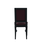 CKC Chair in Black with Claret Wine Seat Pad