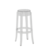 Charles Ghost Bar Stool in Clear