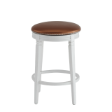 Beli Bar Stool White with Copper Seat Pad