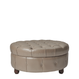 Madrid Ottoman in Taupe