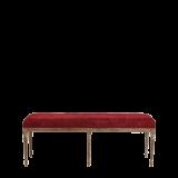 Paris Bench with Oak Frame Crimson Red Velvet