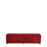 Rochelle Bench in Crimson Red Velvet