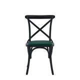 Coco Chair in Black with Emerald Seat Pad