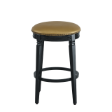 Beli Bar Stool Black with Gold Seat Pad
